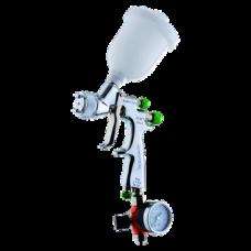 EGO HVLP Краскопульт пневматический, сопло 1,0 мм, верхний бачок пластиковый 180 мл WALCOM 1002310
