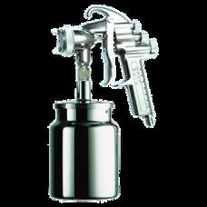 9010 HTE Краскопульт пневматический, сопло 2,2 мм, нижний бачок алюминиевый 1000 мл ASTUROMEC 23622