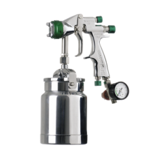 GENESI I НVLP Краскопульт пневматический, сопло 1,7 мм, нижний бачок алюминиевый 1000 мл WALCOM 944017
