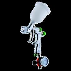 EGO HVLP Краскопульт пневматический, сопло 1,2 мм, верхний бачок пластиковый 180 мл WALCOM 1002312