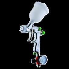 EGO HVLP Краскопульт пневматический, сопло 0,7 мм, верхний бачок пластиковый 180 мл WALCOM