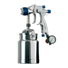 GENESI I GEO Краскопульт пневматический, сопло 1,9 мм, нижний бачок алюминиевый 1000 мл WALCOM 934019