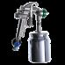 9010 HVLP Краскопульт пневматический, сопло 1,7 мм, нижний бачок алюминиевый 1000 мл ASTUROMEC 21617