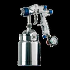 GENESI I GEO Краскопульт пневматический, сопло 1,5 мм, нижний бачок алюминиевый 1000 мл WALCOM 934015