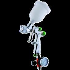 EGO HVLP Краскопульт пневматический, сопло 0,5 мм, верхний бачок пластиковый 180 мл WALCOM 1002305