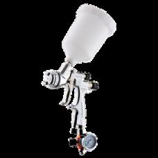 GENESI S HTE Краскопульт пневматический, сопло 0,8 мм, верхний бачок пластиковый 680 мл WALCOM 953008