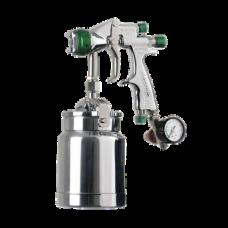 GENESI I НVLP Краскопульт пневматический, сопло 1,4 мм, нижний бачок алюминиевый 1000 мл WALCOM 944014