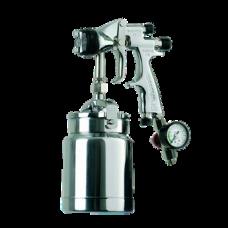 GENESI I HTE Краскопульт пневматический, сопло 1,4 мм, нижний бачок алюминиевый 1000 мл WALCOM 954014
